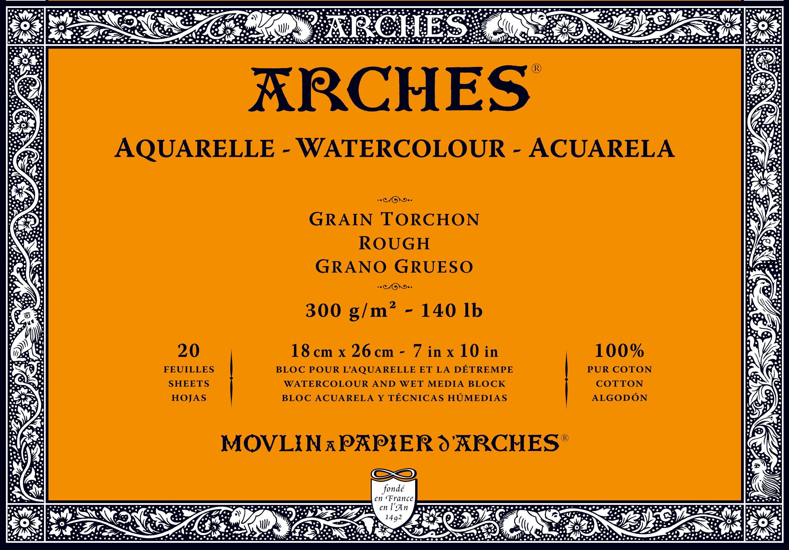 Venta pintura online: Bloc Arches 300gr/grueso 18x26