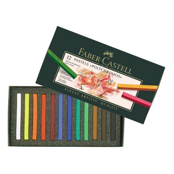 Venta pintura online: Caja 12 Pasteles Polycromos Faber-Castell