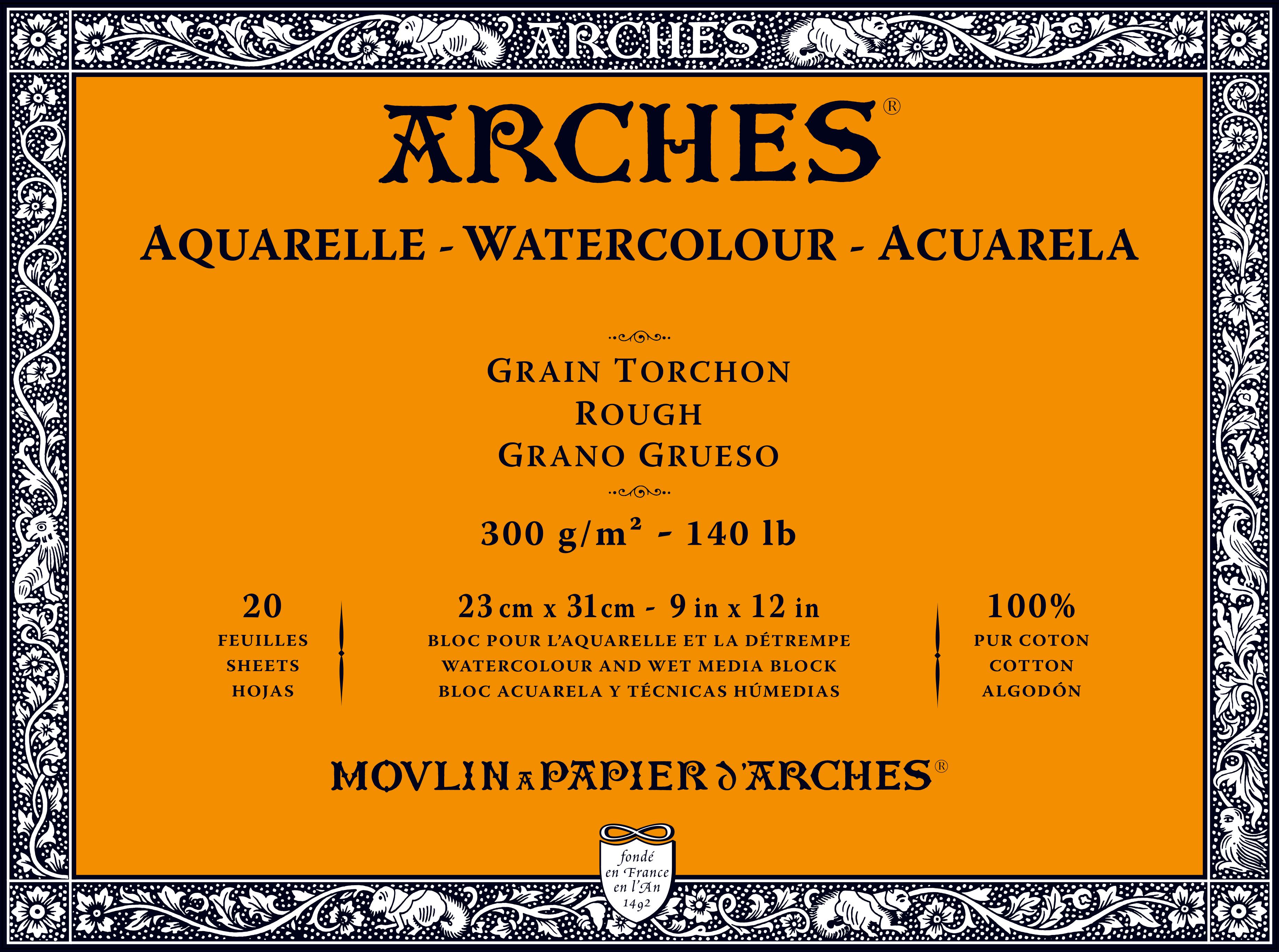 Venta pintura online: Bloc Arches 300gr/grueso 23x31