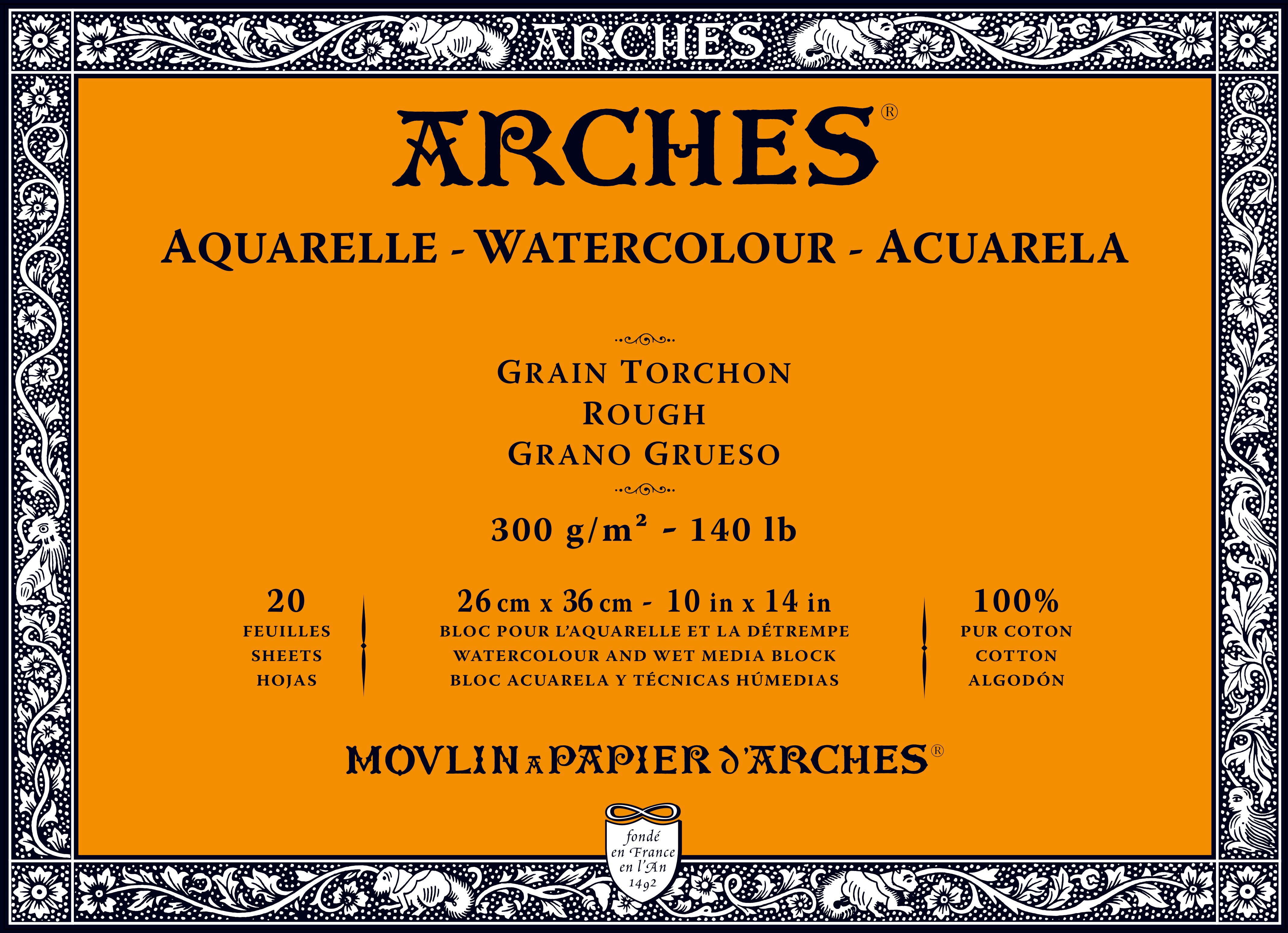 Venta pintura online: Bloc Arches 300gr/grueso 26x36