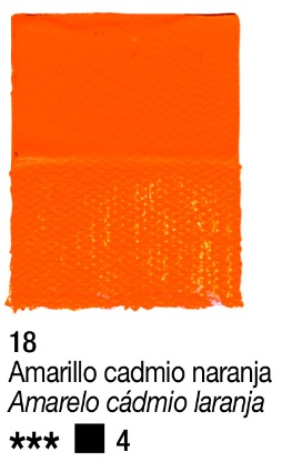 Venta pintura online: Acrílico Amarillo Cadmio naranja nº18 serie 4
