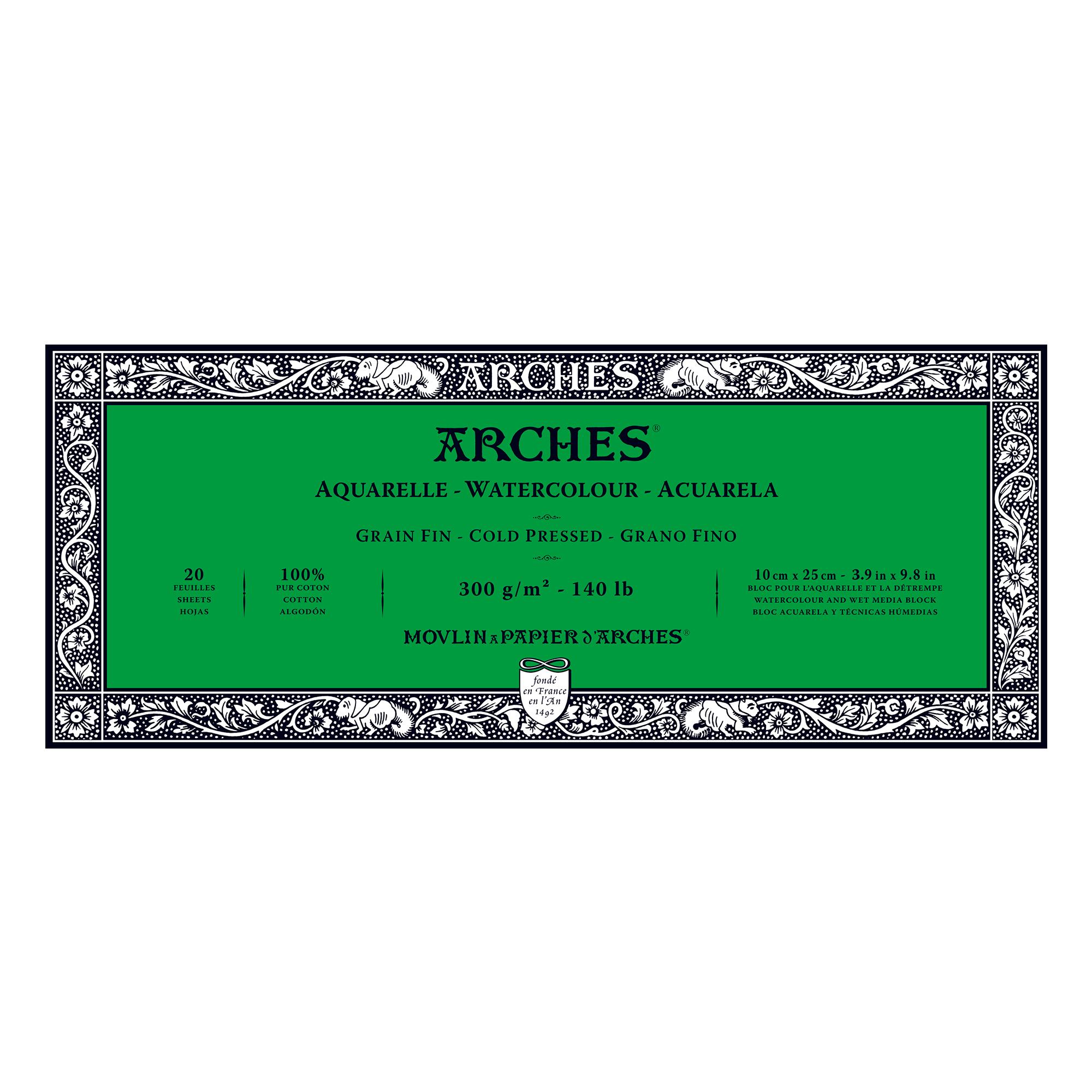 Venta pintura online: Bloc Arches 300gr/fino 10x25