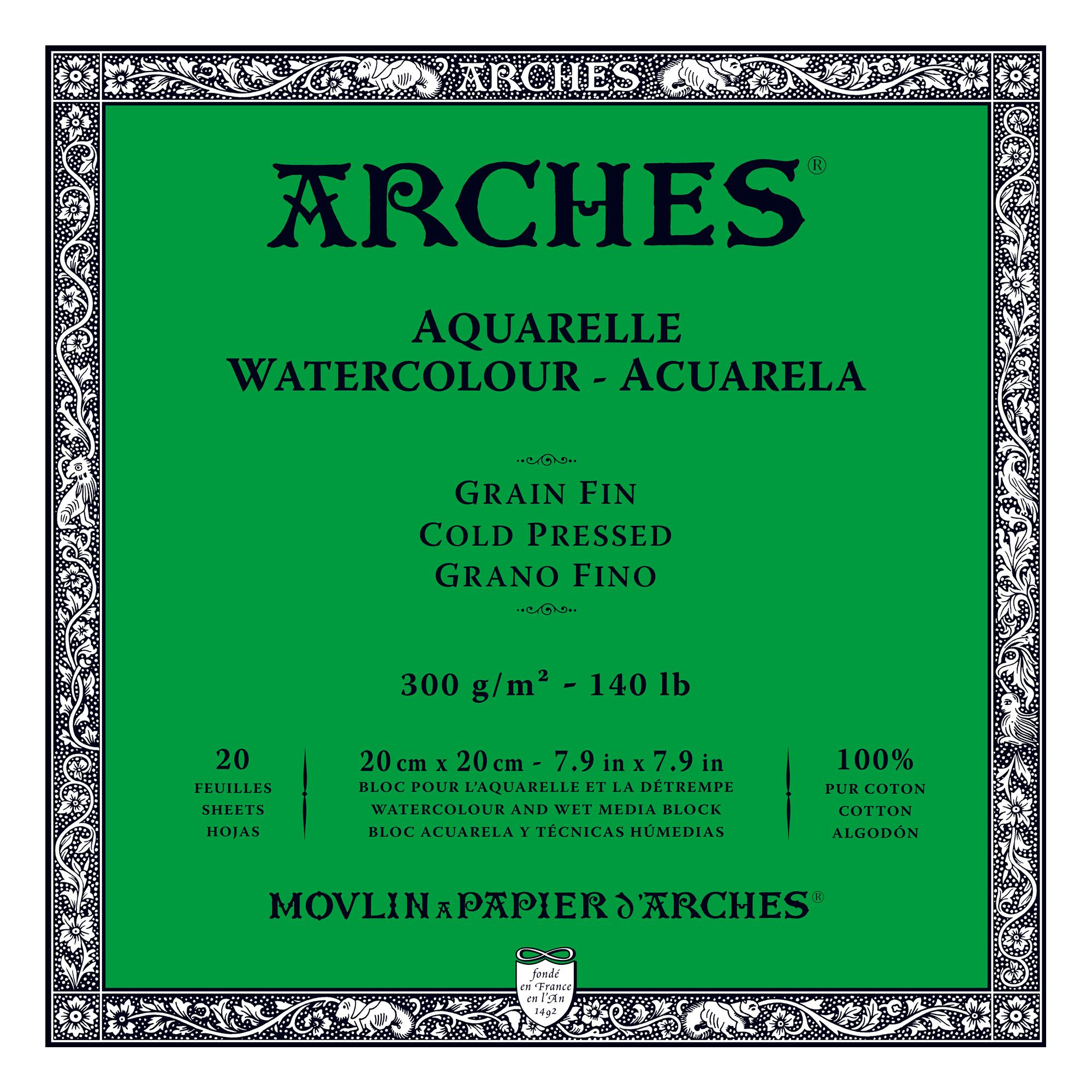 Venta pintura online: Bloc Arches 300gr/fino 20x20