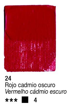 Venta pintura online: Acrílico rojo cadmio oscuro nº24 serie 4