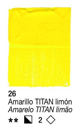 Venta pintura online: Acrílico Amarillo Titan limón nº26 serie 2