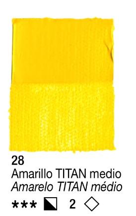Venta pintura online: Acrílico Amarillo Titan medio nº28 serie 2