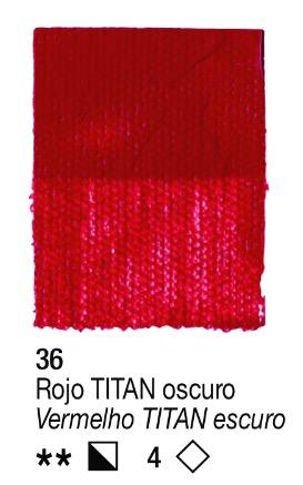 Venta pintura online: Acrílico Rojo Titan oscuro nº36 serie 4