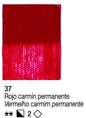 Venta pintura online: Acrílico Rojo carmin permanente nº37 serie 2