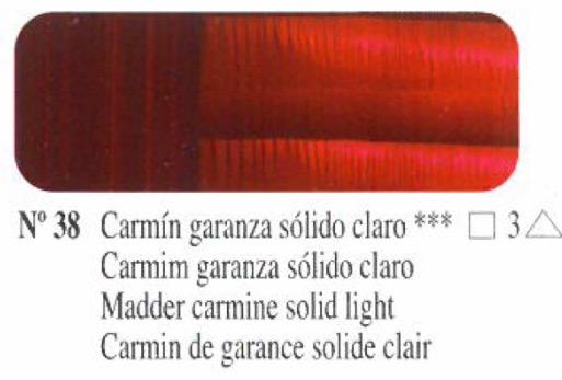 Venta pintura online: Oleo Carmín garanza sólido claro nº38 serie 3