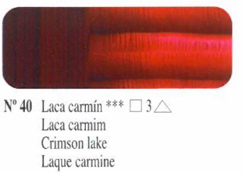 Venta pintura online: Oleo Laca carmín nº40 serie 3