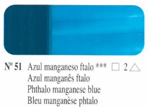 Venta pintura online: Oleo Azul manganeso ftalo nº51 serie 2