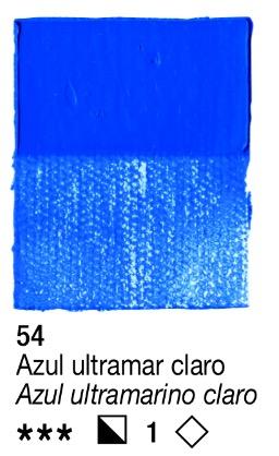 Venta pintura online: Acrílico Azul ultramar claro nº54 serie 1