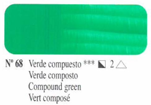 Venta pintura online: Oleo verde compuesto nº68 serie 2