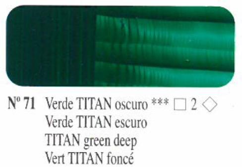 Venta pintura online: Oleo Verde Titan oscuro nº71 serie 2