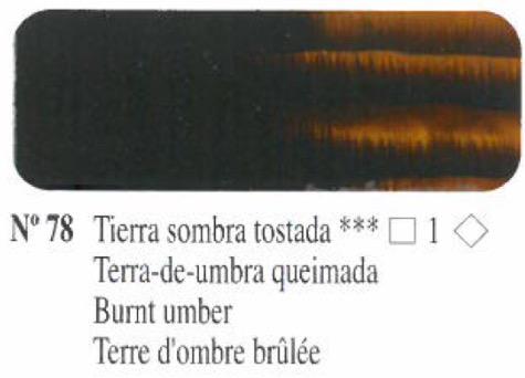 Venta pintura online: Oleo Tierra sombra tostada nº78 serie 1