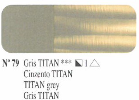 Venta pintura online: Oleo Gris Titan nº79 serie 1