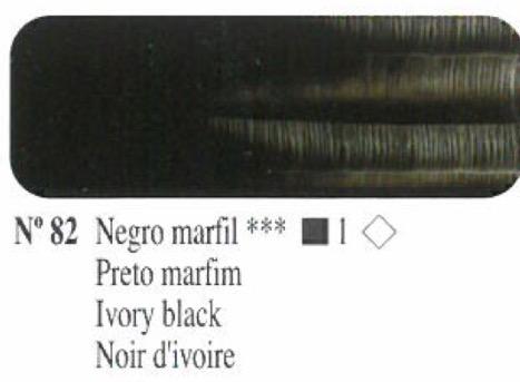 Venta pintura online: Oleo Negro marfil nº82 serie 1