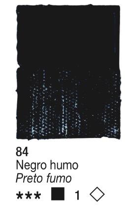 Venta pintura online: Acrílico Negro Humo nº84 serie 1