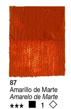 Venta pintura online: Acrílico Amarillo de Marte nº87 serie 1