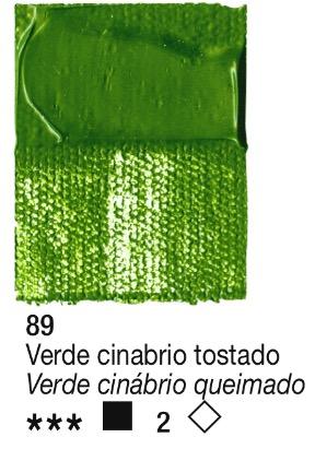 Venta pintura online: Acrílico Verde Cinabrio tostado nº89 serie 2