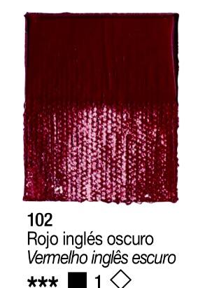 Venta pintura online: Acrílico Rojo Inglés Oscuro nº102 serie 1