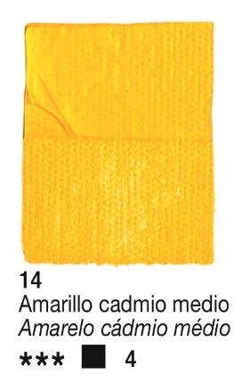 Venta pintura online: Acrílico Amarillo Cadmio Medio nº14 serie 4
