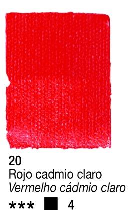 Venta pintura online: Acrílico Rojo Cadmio claro nº20 serie 4