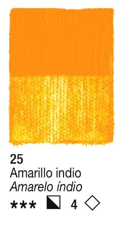 Venta pintura online: Acrílico Amarillo indio nº25 serie 2