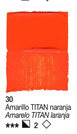 Venta pintura online: Acrílico Amarillo Titan naranja nº30 serie 3