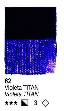 Venta pintura online: Acrílico Violeta Titan nº62 serie 3