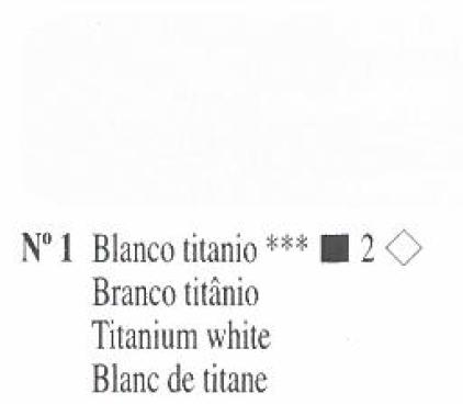 Venta pintura online: Oleo Blanco Titanio nº1 serie 2