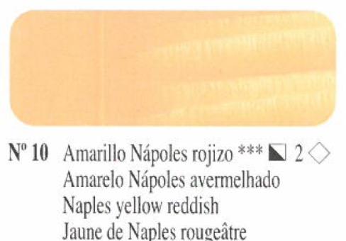 Venta pintura online: Oleo Amarillo Nápoles rojizo nº10 serie 2
