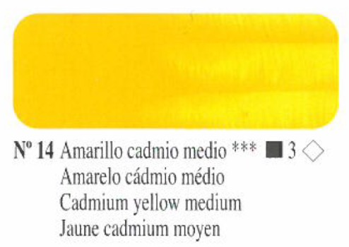 Venta pintura online: Oleo Amarillo cadmio medio nº14 serie 3