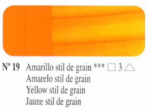 Venta pintura online: Oleo amarillo still de grain nº19 serie 3
