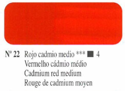 Venta pintura online: Oleo Rojo Cadmio medio nº22 serie 4