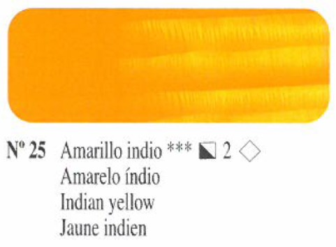 Venta pintura online: Oleo Amarillo indio nº25 serie 2