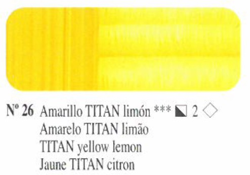 Venta pintura online: Oleo Amarillo Titan limón nº26 serie 2
