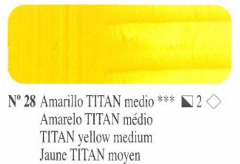 Venta pintura online: Oleo Amarillo Titan medio nº28 serie 2