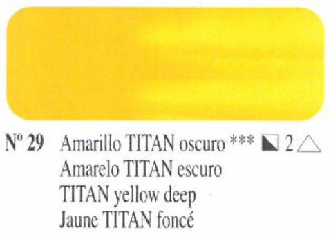 Venta pintura online: Oleo Amarillo Titan oscuro nº29 serie 2