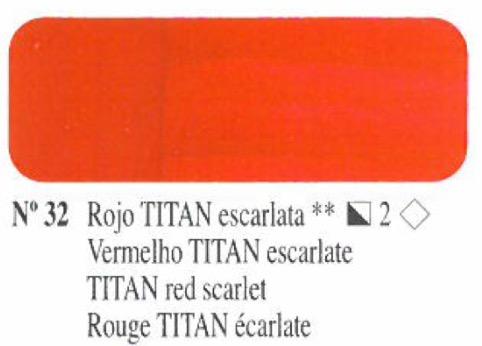 Venta pintura online: Oleo Rojo Titan escarlata nº32 serie 2