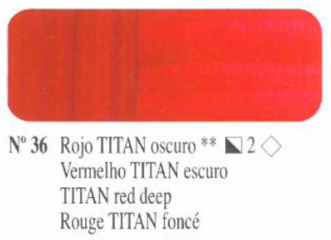 Venta pintura online: Oleo Rojo Titan oscuro nº36 serie 2