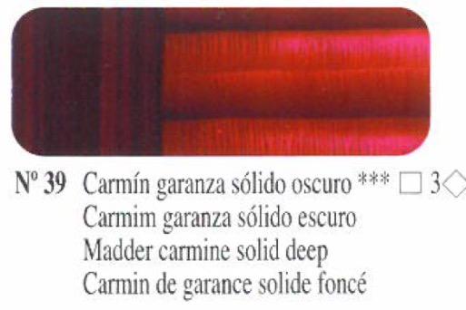 Venta pintura online: Oleo Carmín garanza sólido oscuro nº39 serie 3
