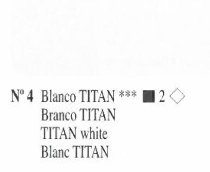 Venta pintura online: Oleo Blanco Titan nº4 serie 2