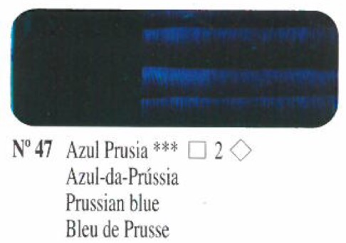 Oleo Azul prusia nº47 serie 2
