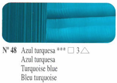Venta pintura online: Oleo Azul turquesa nº48 serie 3