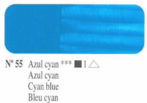 Venta pintura online: Oleo azul cyan nº55 serie 1