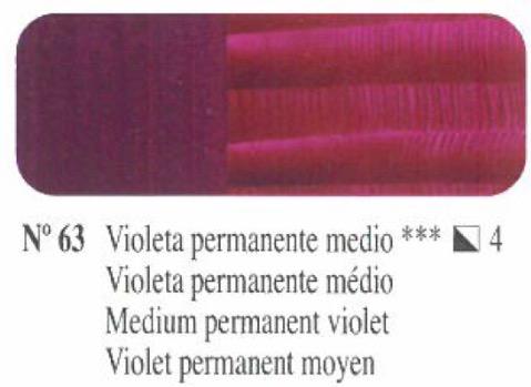 Venta pintura online: Oleo Violeta  permanente medio nº63 serie 4
