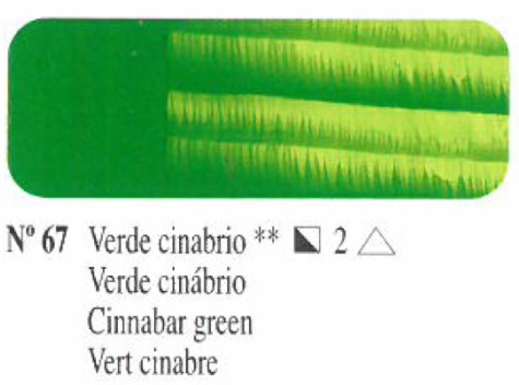 Venta pintura online: Oleo Verde cinabrio nº67 serie 2