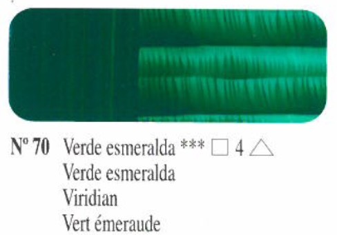 Venta pintura online: Oleo Verde esmeralda nº70 serie 4