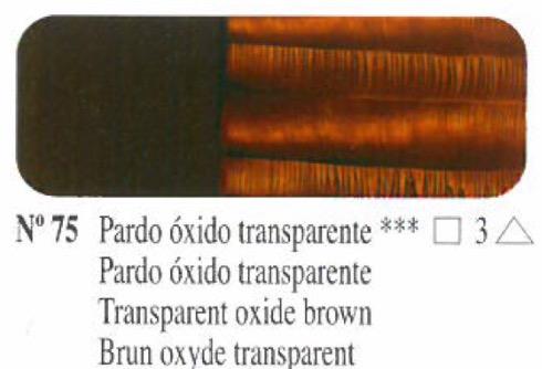 Venta pintura online: Oleo Pardo óxido transparente nº75 serie 3